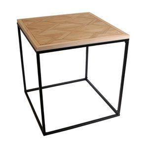 TABLE D'APPOINT Table à café en bois et métal Industriel - 48 x H.