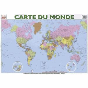 poster carte du monde enfant achat vente poster carte du monde enfant pas cher cdiscount. Black Bedroom Furniture Sets. Home Design Ideas