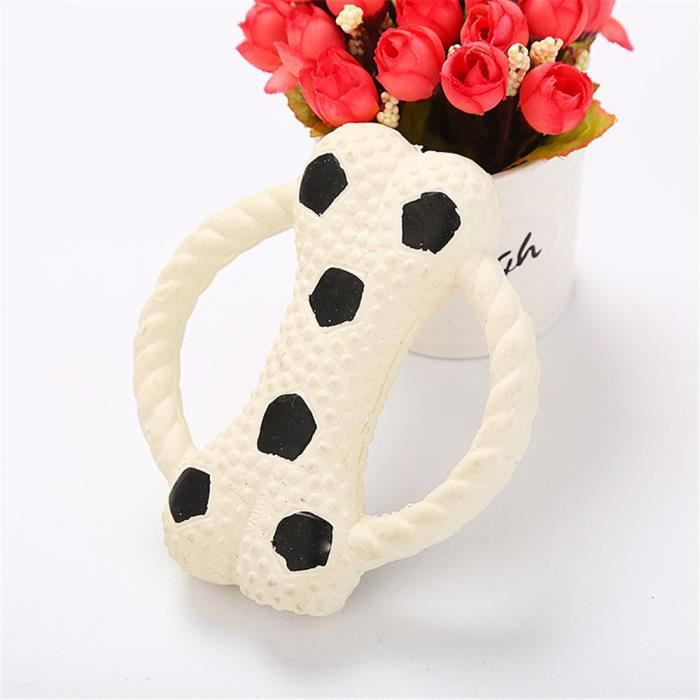 Chien Pet Cat Toy Bouchées Latex Naturel Os Grincent Audio Play Toys Wy97872
