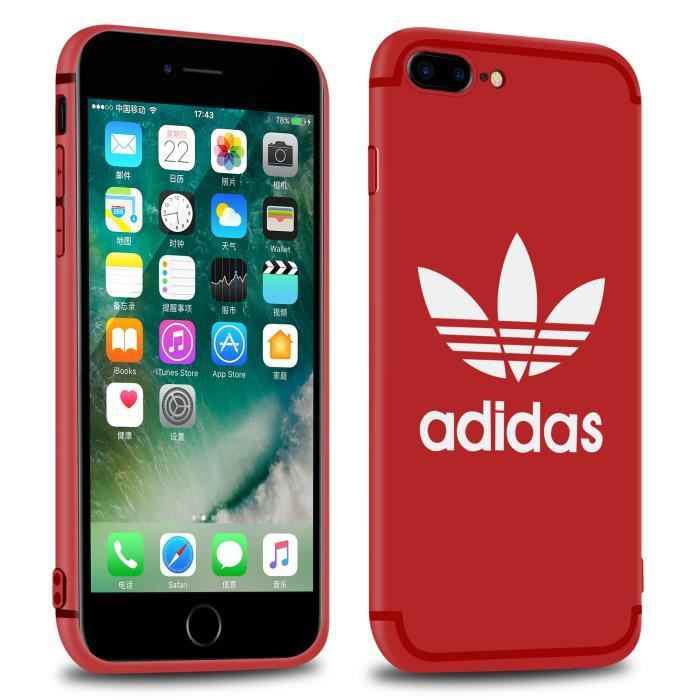 coque adidas rouge iphone 8 plus
