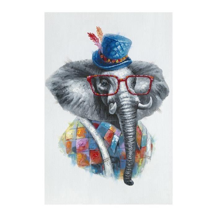 Top Tableau elephant colore - Achat / Vente Tableau elephant colore  SR62