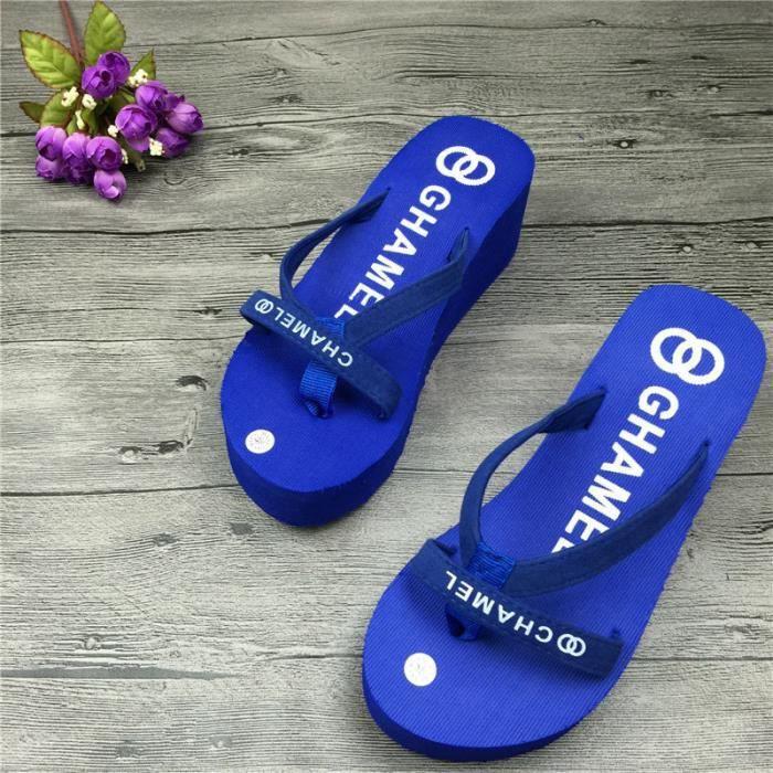 Pour Plate Forme Pantoufles Pantoufles Femmes Sandales Slip Sandales Sandales en Femme Tongs Non ciel D'été Intérieure vx6xwp0P