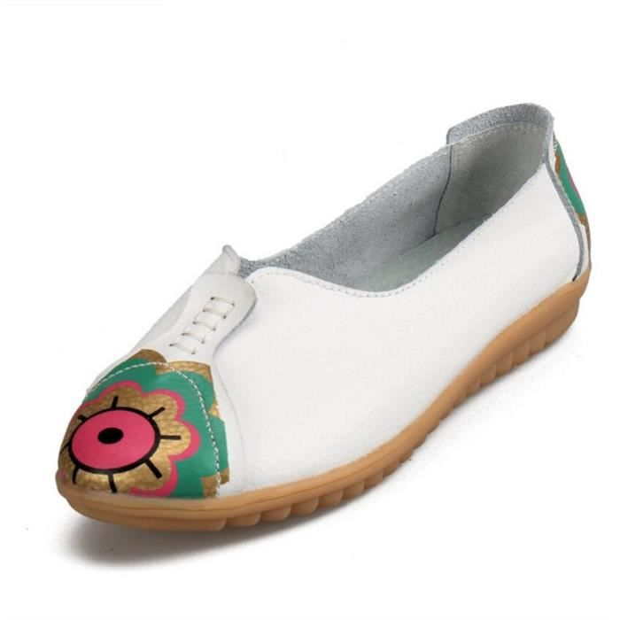 Moccasins Femmes été Durable De Marque De Luxe Super Confortable Nouvelle Mode chaussure Plus Taille Classique Femme Moccasin 9YOPoEIqW