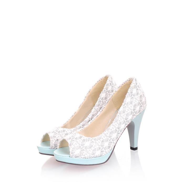 Sandales Peep Toe Chaussures de plate-forme de talon mince 5747568 K1ba3