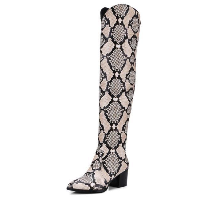 Au-dessus pour femmes Bottes style bref Faddish Tout Chaussures match 9717764