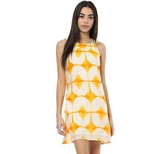 5dbe2165980 Femmes Robe jaune A-ligne