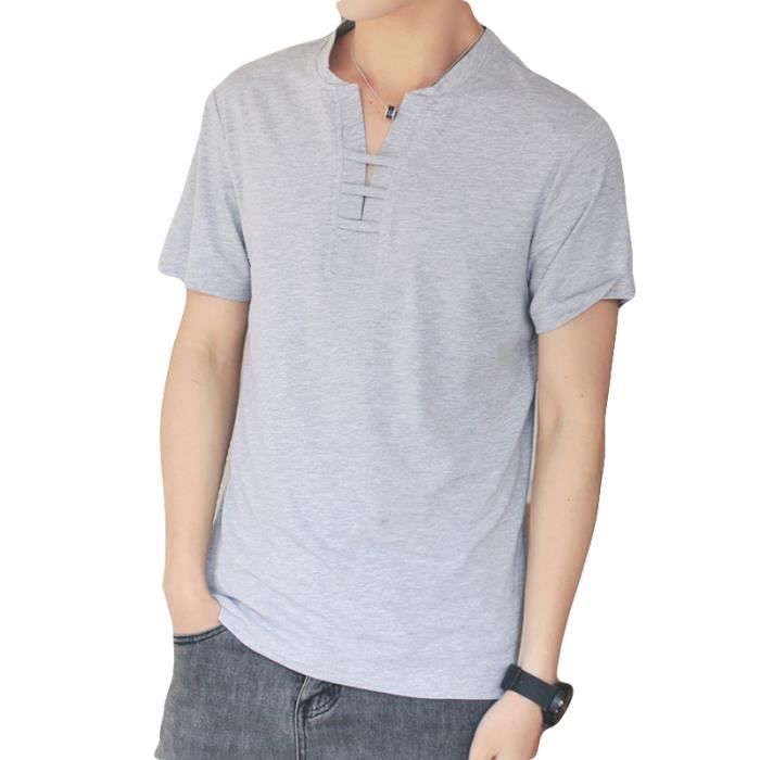 reputable site d23d4 86b03 t-shirt-homme-col-v-pas-cher-en-couleur-unie-baggy.jpg