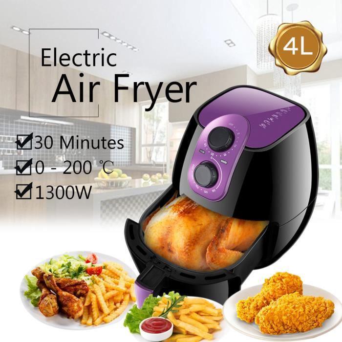 NEüFU 4L Friteuse Electrique AIR FRYER Cuisine 1300W VIOLET ...