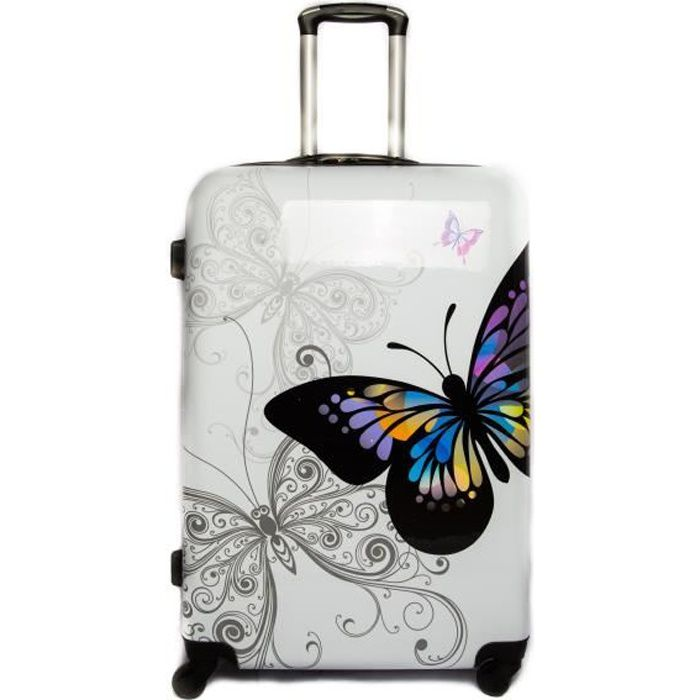 VALISE - BAGAGE Valise Grande taille 4 roues 75cm ABS/PC rigide Bl