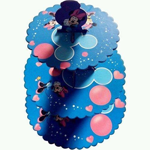 DISNEY MINNIE Carton Présentoir Cupcake - 3 étages Rond Tour - pour pour enfants Fêtes d'anniversaire et occasions