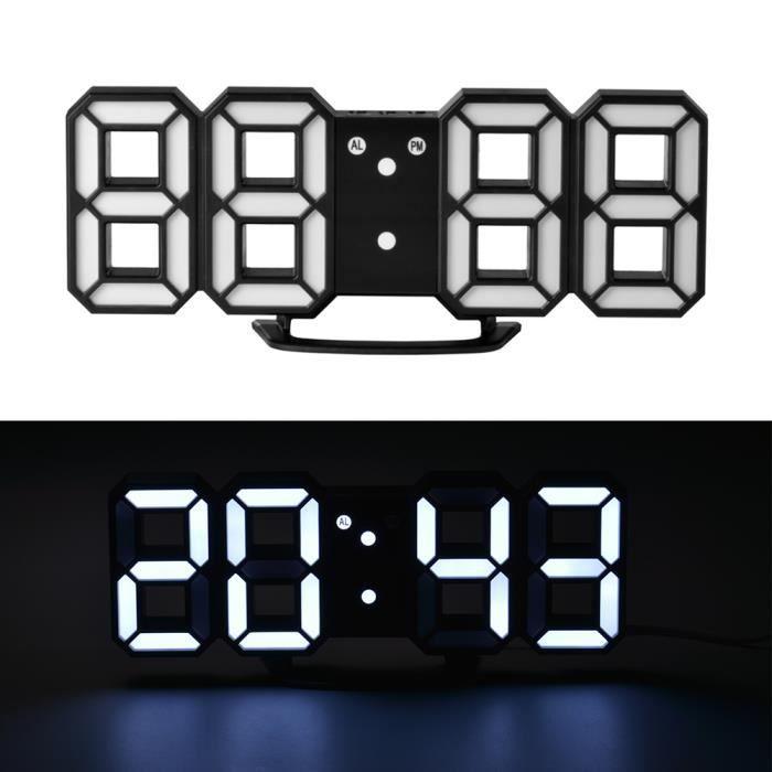 horloge murale affichage digital perfect horloge murale numrique blanc with horloge murale. Black Bedroom Furniture Sets. Home Design Ideas