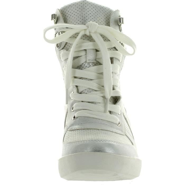 Eric-8 High Top Lace Up Femmes Wedge Sneakers CIWZR Taille-37