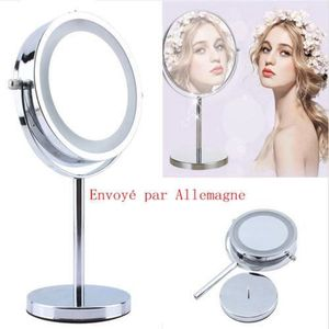 MIROIR ÉLECTRIQUE 6 Inch LED Miroir 5X Grossissant pour maquillage r