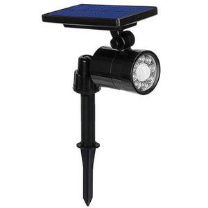 SPOTS - LIGNE DE SPOTS Lampe Solaire à 8 LED 800 Lumens Ultra Puissante,E