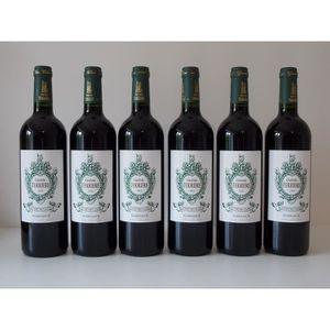 VIN ROUGE Lot de 6 bouteilles Ch. Ferriere 2011 Margaux Gran