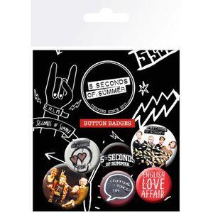 BADGES - PIN'S Set de badges 5 Seconds of Summer Mix 1