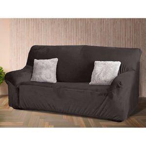 Canape 2 places microfibre achat vente pas cher for Housse divan 2 places
