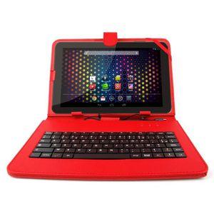 CLAVIER D'ORDINATEUR Etui clavier rouge pour tablette Archos Neon-Xenon