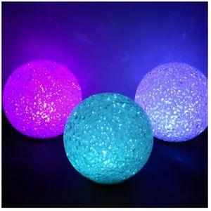 OBJETS LUMINEUX DÉCO  BOULE LED EFFET CRISTAL DIAM. 18 CM  Multicolore /