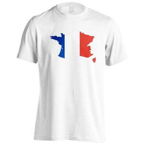 T-SHIRT T-shirt -France World Map Art Hommes T-Shirt i726m 3708d257e9c4