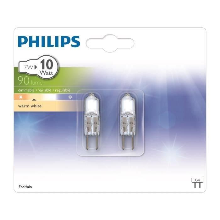 PHILIPS Capsule Lot de 2 Ampoules EcoClassic 7W G4