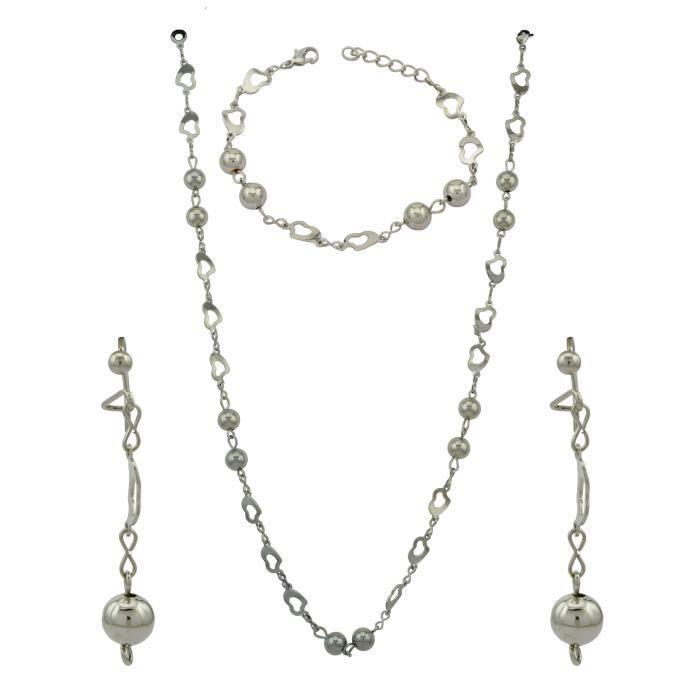 Party Fancy femme Prêt à porter ensemble collier avec boucles doreilles et bracelet Pour EtL1I5I
