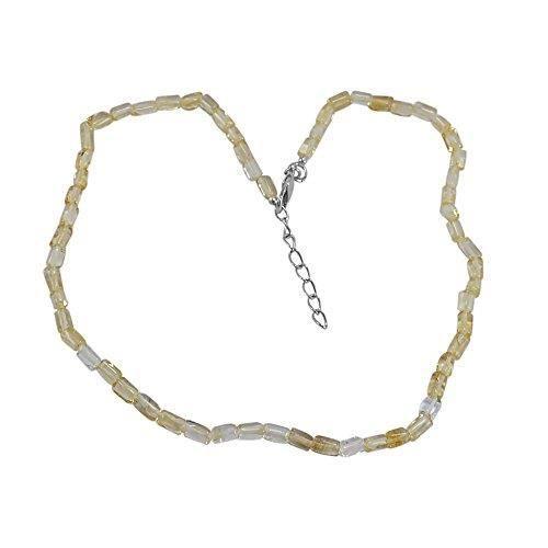 Womens Citrine Quartz Gemstone Necklace Pg-128733 SLHOR