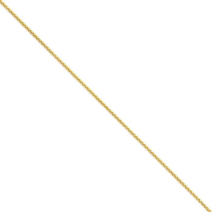 1,9 mm 14 carats Diamant rond-Cut Collier de chaîne de blé-- 18 cm