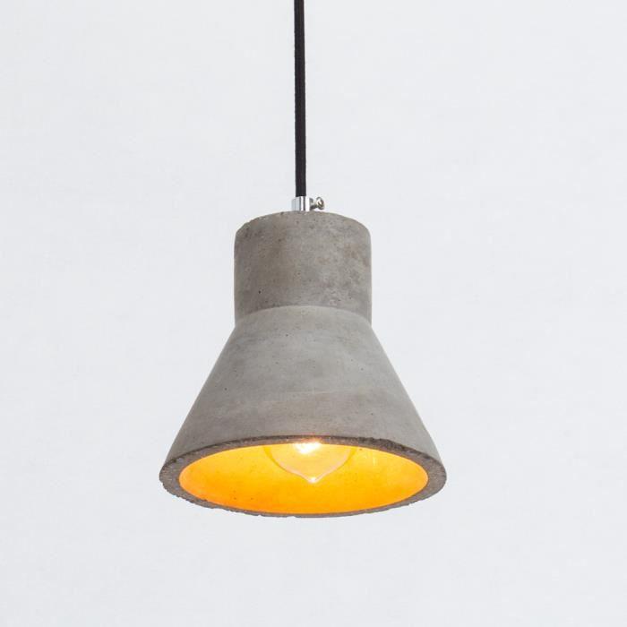 luminaire beton awesome avis suspension luminaire suspension possio cm lumires mtalbois bton. Black Bedroom Furniture Sets. Home Design Ideas