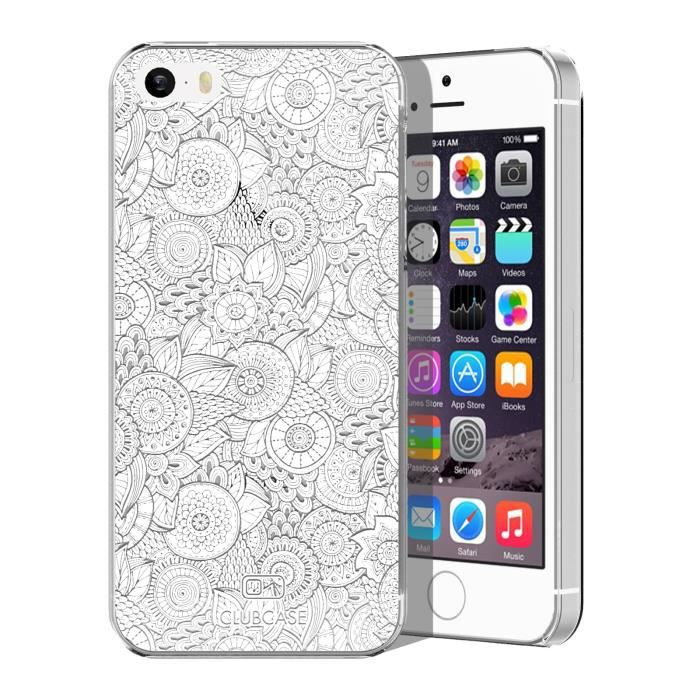 coque crystal iphone 5 5s extra fine texture dentelle florale blanche achat coque bumper. Black Bedroom Furniture Sets. Home Design Ideas