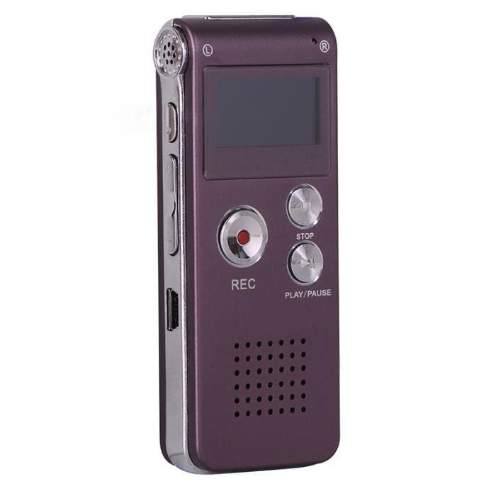 Enregistreur Vocal Numérique 4g Audio Lecteur Mp3 Port Violet