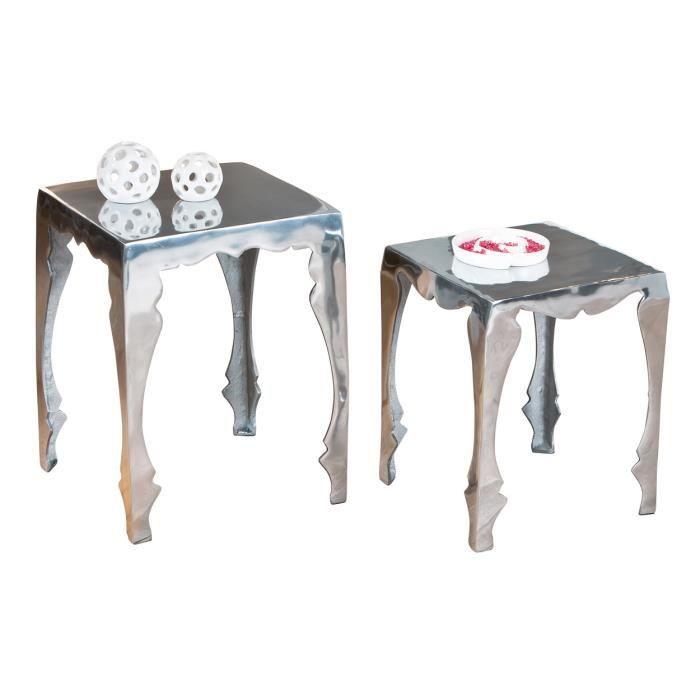 2 tables basse carr de salon d appoint bout de achat for Table d appoint cuisine