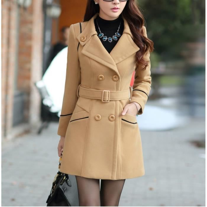 Manteau trench femme court