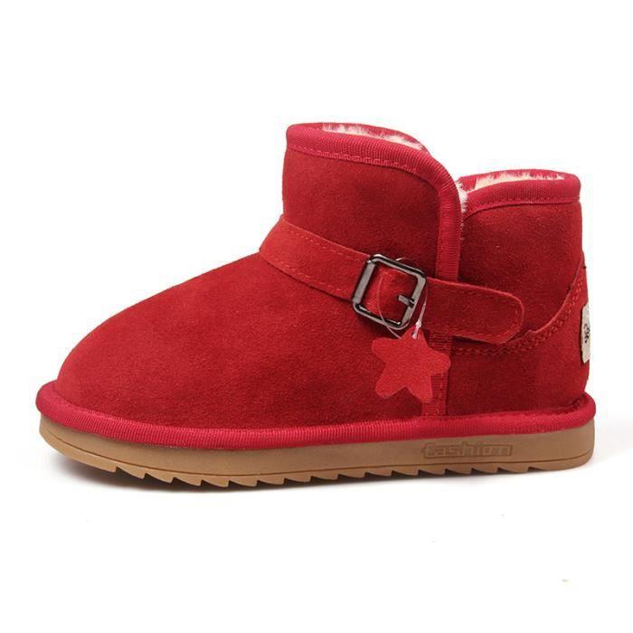 Enfants Chaussures bottine Garçon filles Mode Bottes de neige vSdOeXb