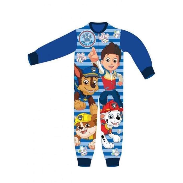 0fe1fc30fe989 Pyjama polaire PAT PATROUILLE combinaison grenouillère enfant garçon ...