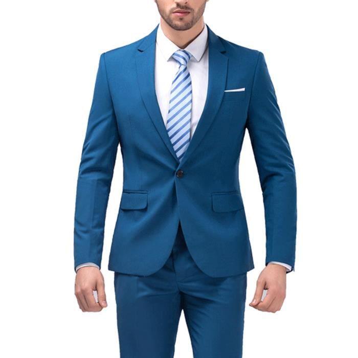 Costume slim 2 pièces pour homme Hommes Parti Costume de Mariage Mode be59ae363ab