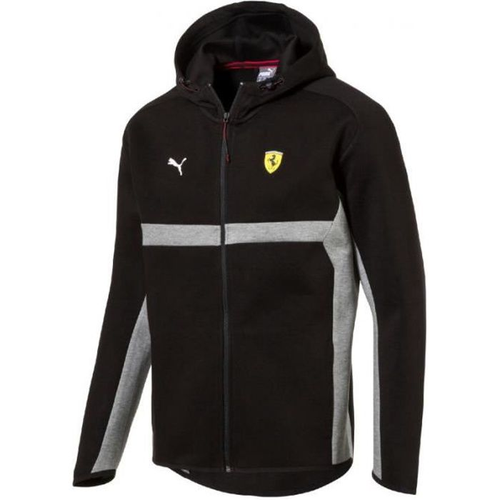 c71bf9d05a121 Veste de survêtement Puma Scuderia Ferrari Hooded Sweat Jacket F1 coloris  Puma Black