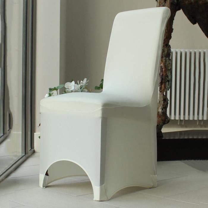 10pcs Arched Fronted housse de chaise blanc d\'ivoire - 1050 ...