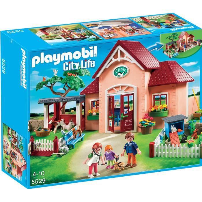 Playmobil 5529 clinique v t rinaire et animaux achat vente univers miniature cdiscount - Piscine moderne playmobil ...