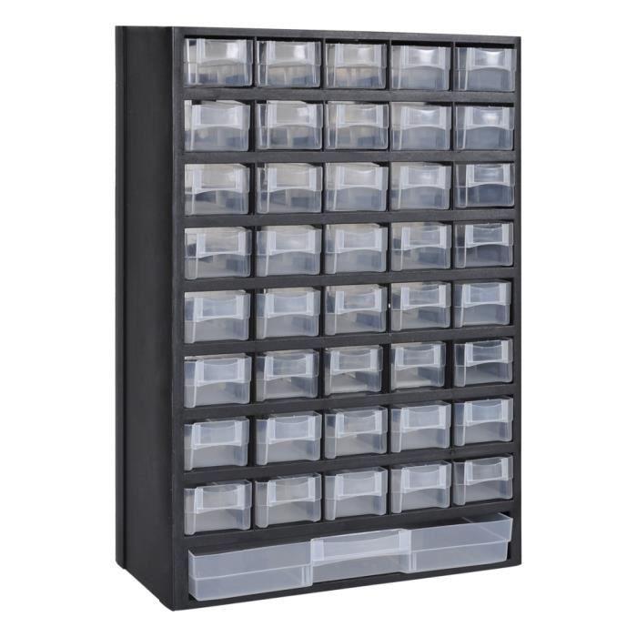 41Tiroirs Armoiremodulecasier de rangement en plastique 31 x