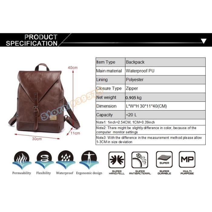sac à dosTrois Boîte Hommes en cuir Mode Pu Loisirs étudiant Sac décole pour les femmes des hommes daffaires vintage Sacs-512