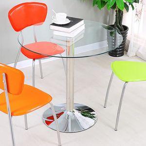 TABLE BASSE Table basse/ basse de Café en verre trempé + pieds