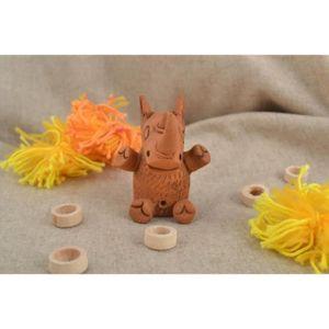 STATUE - STATUETTE Figurine rhinocéros faite main Statuette céramique