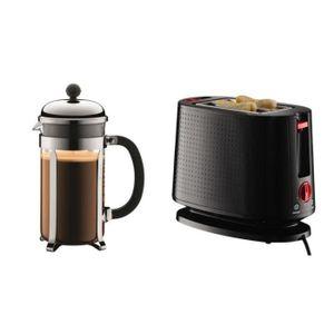 CAFETIÈRE Bodum - set cafetière à piston 8 tasses 1l + grill