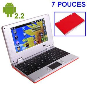 NETBOOK Mini Netbook rouge avec Android 2.2 +WiFi/USB/SD