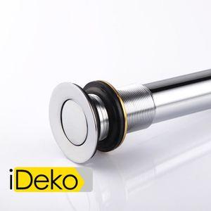 BONDE - CABOCHON iDeko® Bonde lavabo salle de bain avec trou de déb
