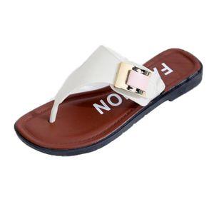 SANDALE - NU-PIEDS Chaussures@ Les femmes sandales plat occasionnels