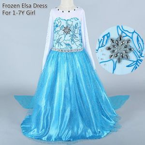 ROBE Elsa Costumes Robes La Reine des Neiges Toddler Fi