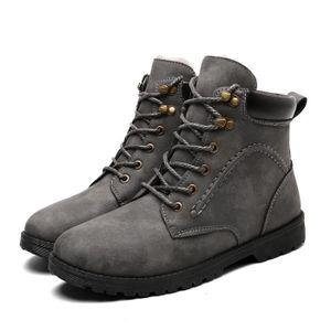 separation shoes 6880e 00d83 BOTTINE bottines homme Boots à lacets peluche hiver chaude ...