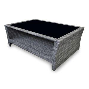 Table basse en résine tressée gris ice Proloisirs - Achat / Vente ...